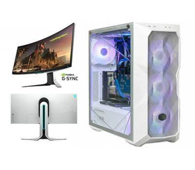 """ASUS Z490 MASTERCASE TD500 ARGB I9 10900K-RTX3080 TI -32G-1TB M.2-1TB HDD + Alienware 34"""" AW3420DW 120Hz, 3440 x 1440 Curved Gaming Monitor, image"""
