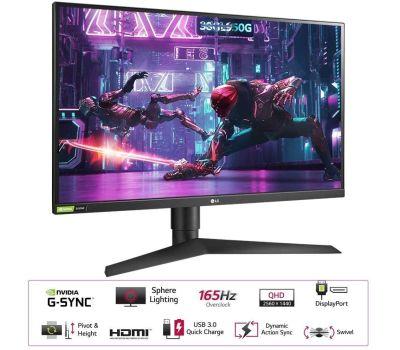"LG 32"" Class QHD Gaming Monitor with G-SYNC 31.5"" Diagonal, image , 2 image"